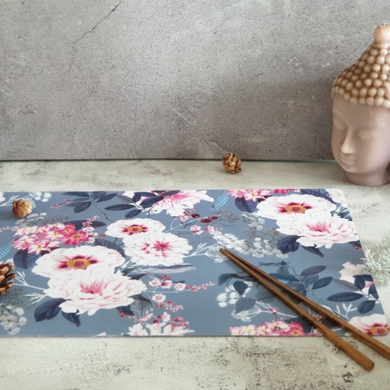 WIPE CLEAN TABLEMATS/PLACEMATS - DUSTY ROSE GRAY