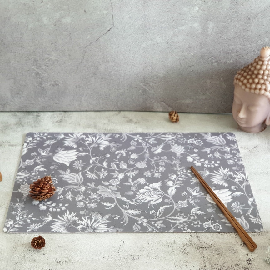 WIPE CLEAN TABLEMATS/PLACEMATS - FLORAL RADIANCE