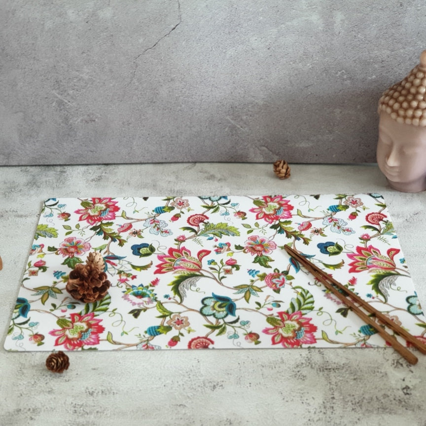WIPE CLEAN TABLEMATS/PLACEMATS - WHITE COUNTRY