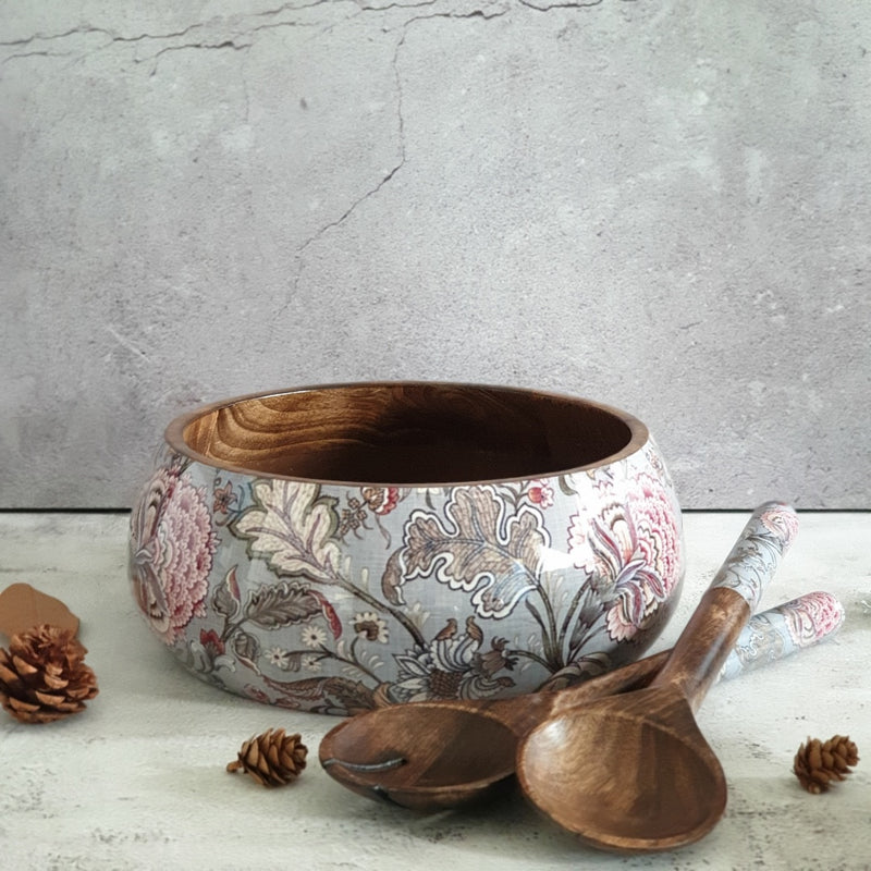 Salad Bowl with Matching Servers (Large) - Jaipur Collection