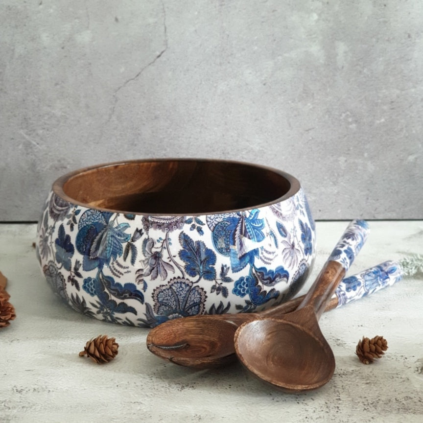 Salad Bowl with Matching Servers (Large) - Sapphire Collection