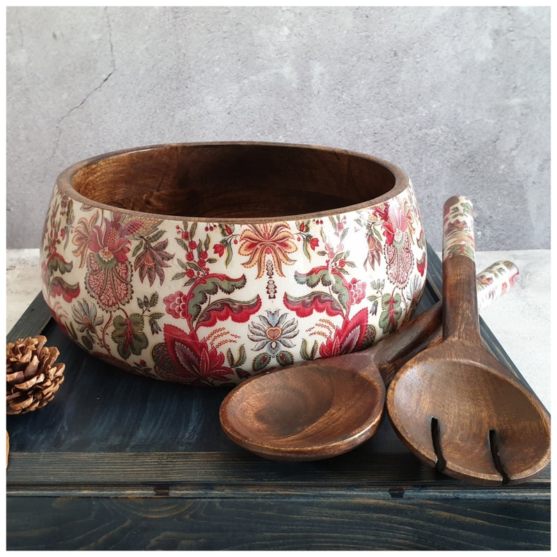 Only Salad Bowl (Large) - Kalamkari