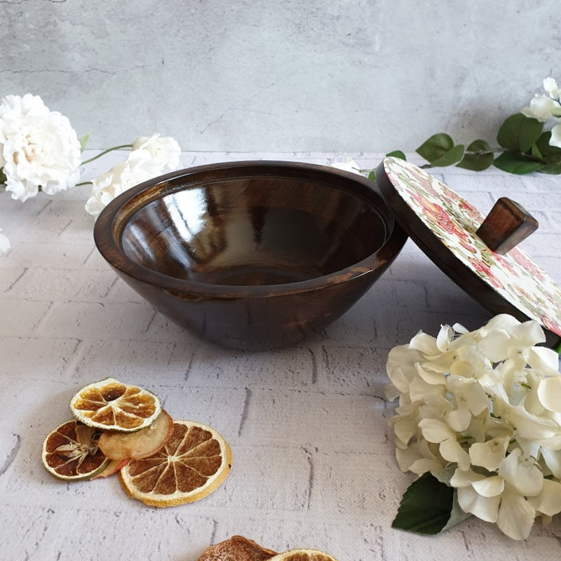 Autumn Floral Salad Bowls with Lids - Small