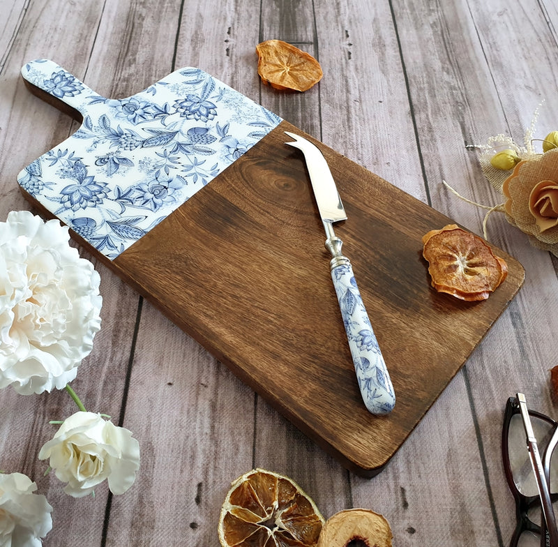 Summer Blues Cheese Board & Knife Set