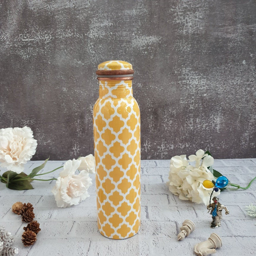 Yellow & White Copper Bottle