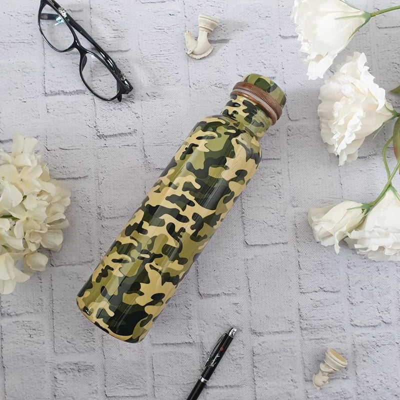 Camouflage Green Army Copper Bottle