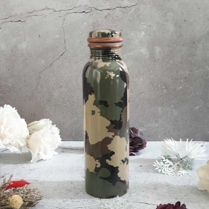 CAMOUFLAGE GREEN COPPER BOTTLE