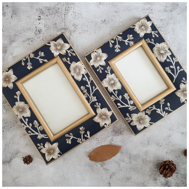 Photo Frame - Hand Painted - Blooming Hibiscus (Set of 2)