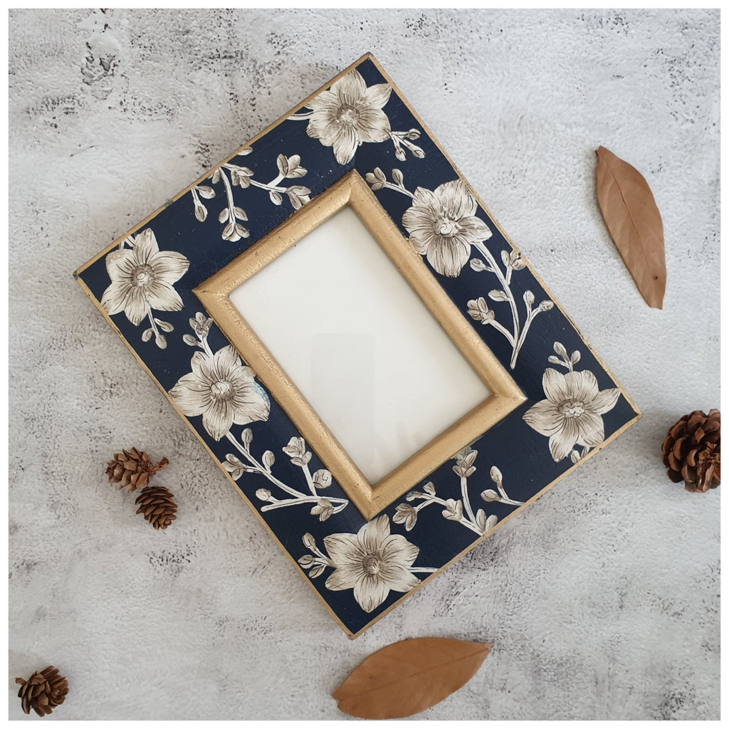 Photo Frame - Hand Painted - Blooming Hibiscus