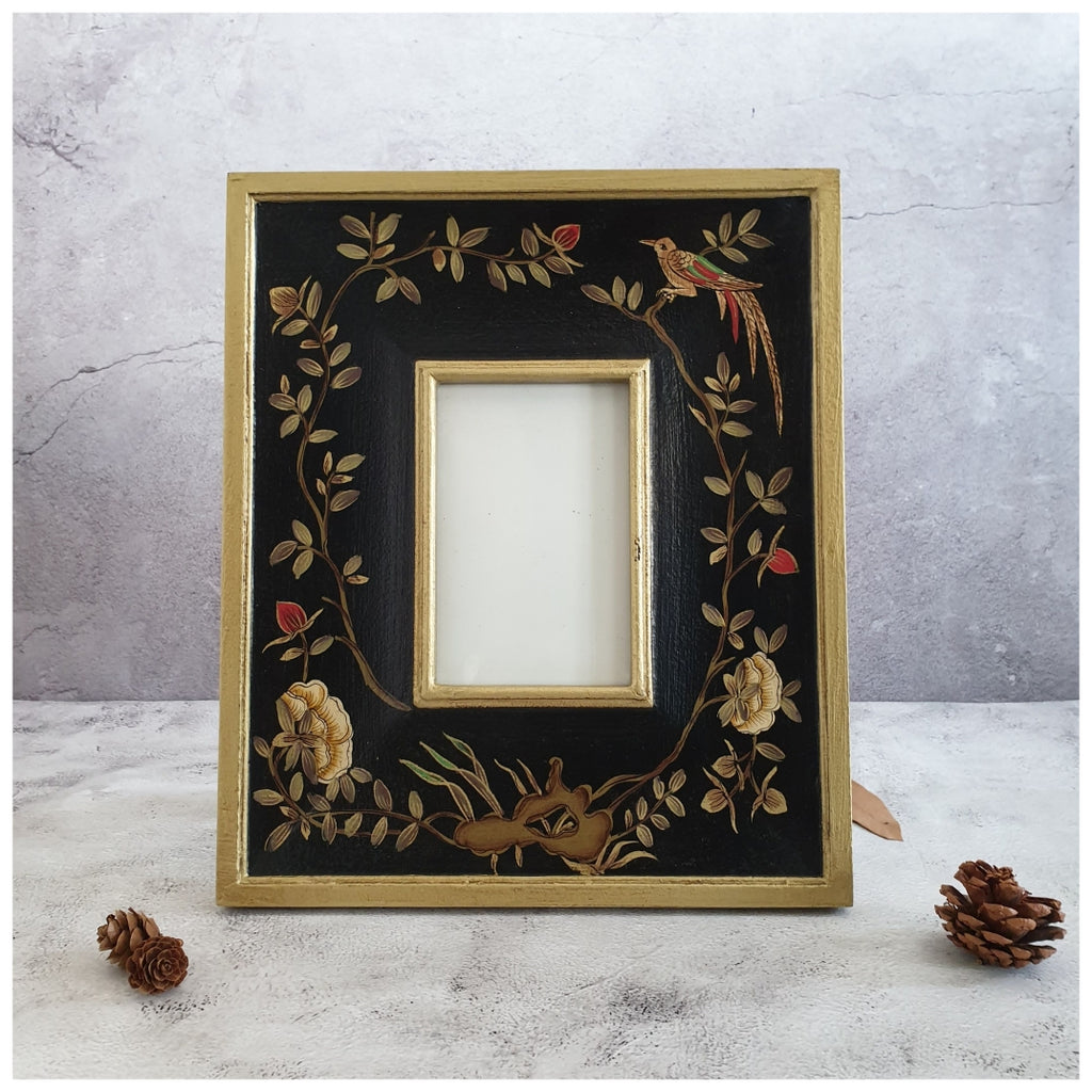 Photo Frame - Hand Painted - English Vintage Garden