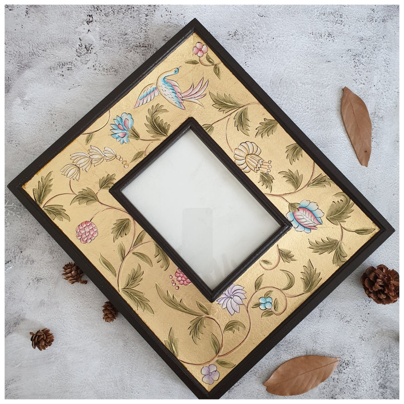 Photo Frame - Hand Painted - Golden Leaf