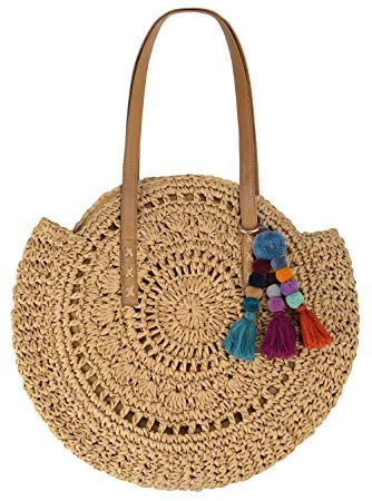 Bohemian Shoulder Straw Bag