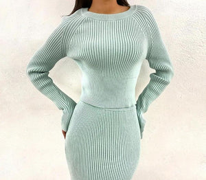 Ribbed Elegant Two Piece Set