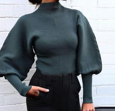 High Collar Lantern Jumper