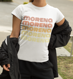 MORENA short sleeve retro t-shirt