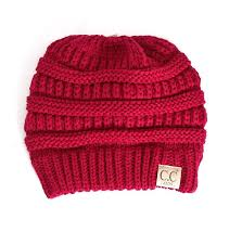 C.C kids knit beanie with fuzzy lining inside