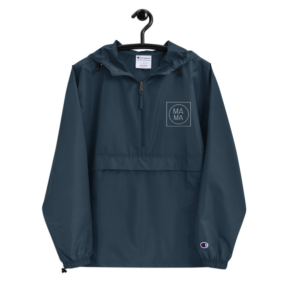 Mama's Embroidered Champion Packable Jacket
