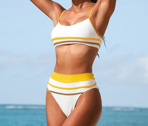 Sporty Tank Top High Waist Bikini Set