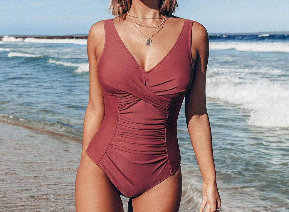 Dusty Rose One Piece Swimsuit