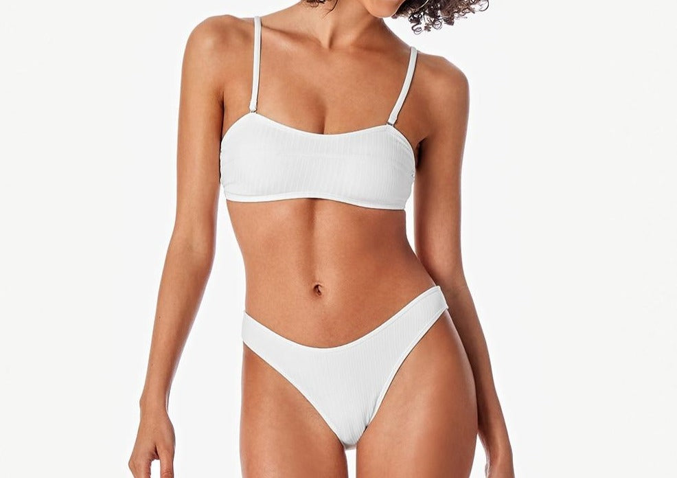 Bandeau Low Waist Bikini Set