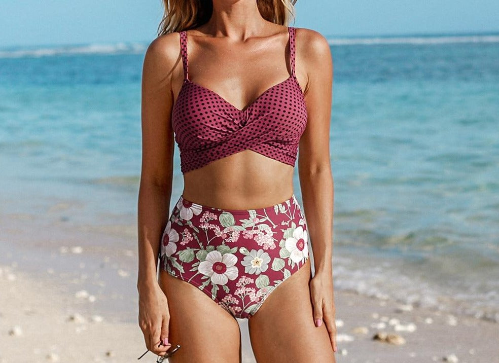 Push Up High-waist Bikini Set