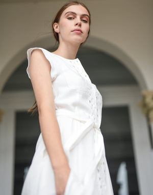Gretta Dress in Ivory