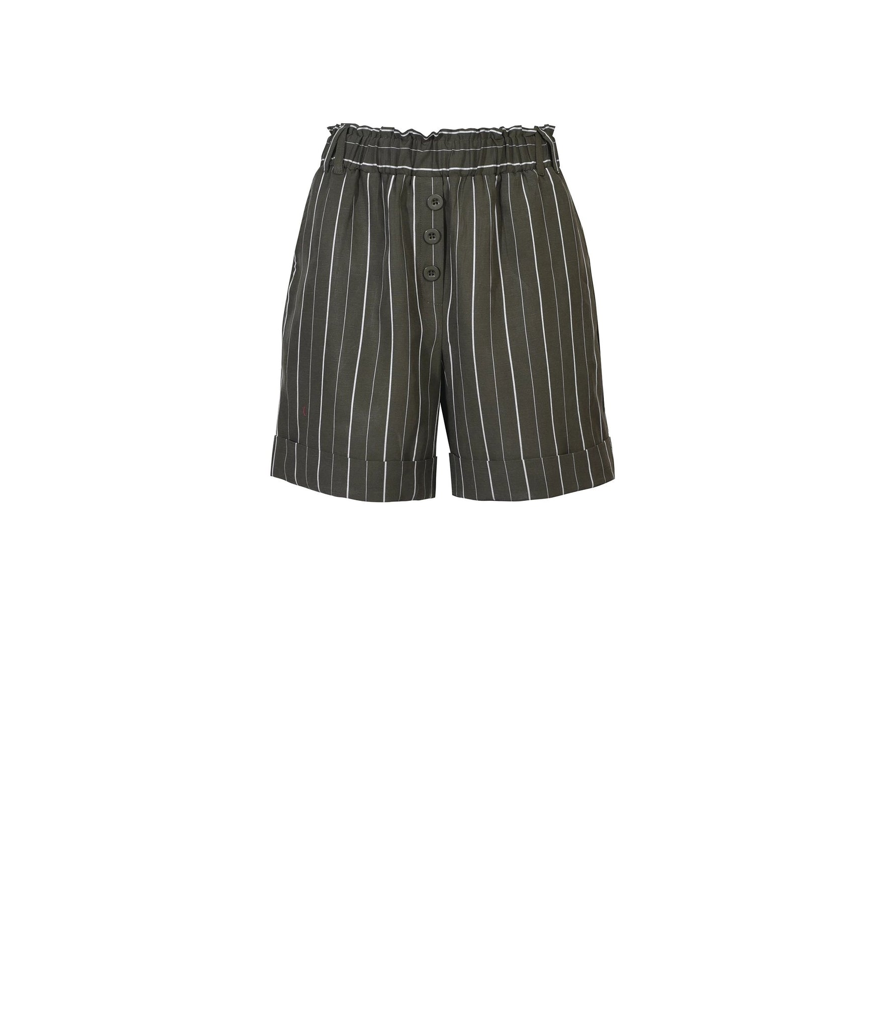Gretta Short in Khaki Stripe