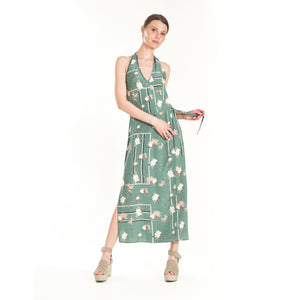 Retro Floral Wrap Dress - ISLE & ROW