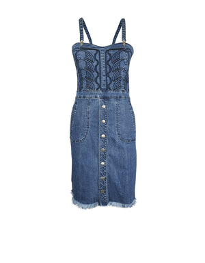 Denim Dress in blue wash - ISLE & ROW