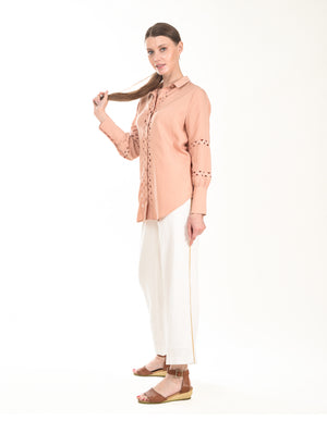 Gretta Pant in Ivory
