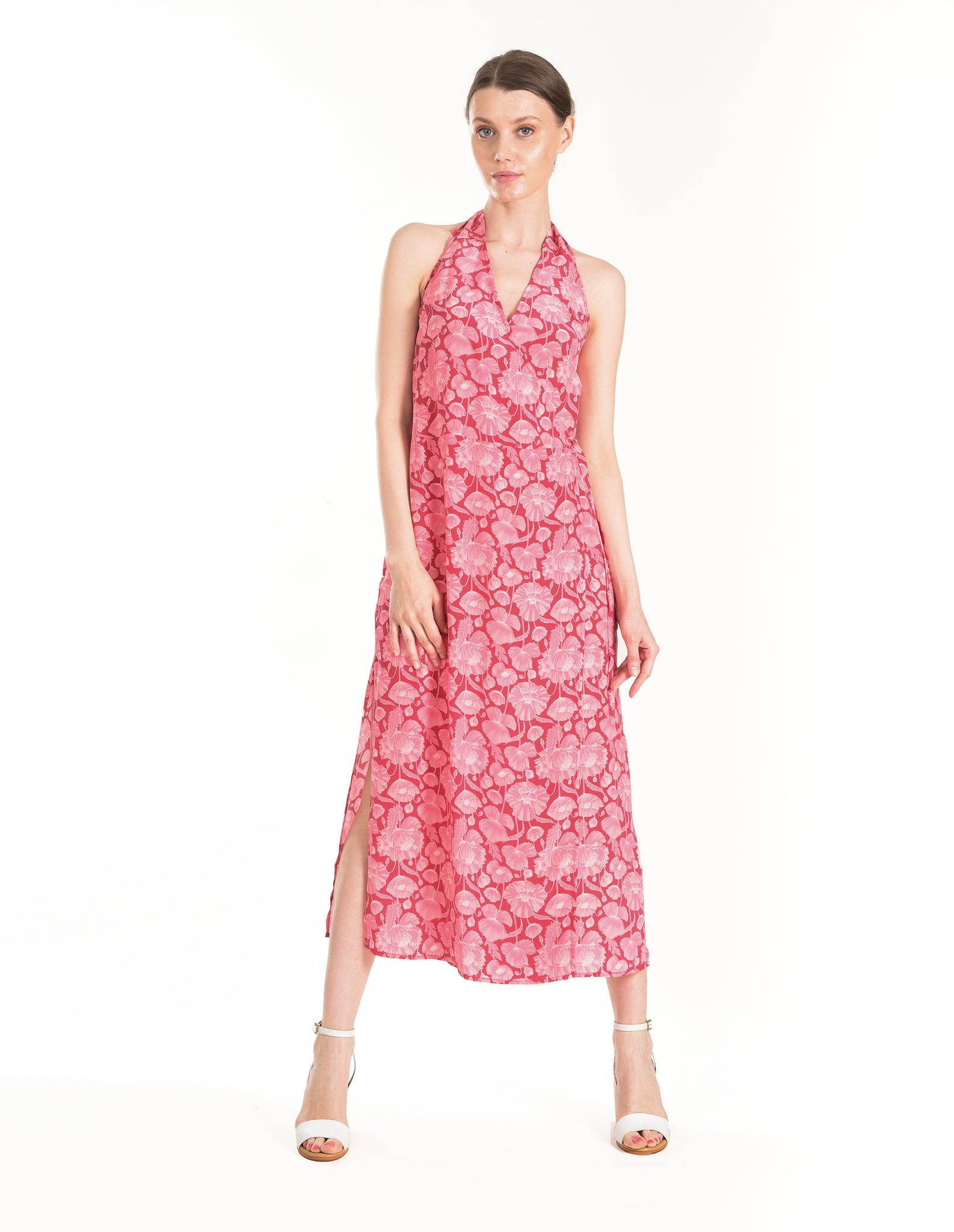 Deco Floral Wrap Dress - ISLE & ROW