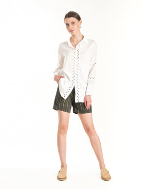 Gretta Shirt in Ivory - ISLE & ROW