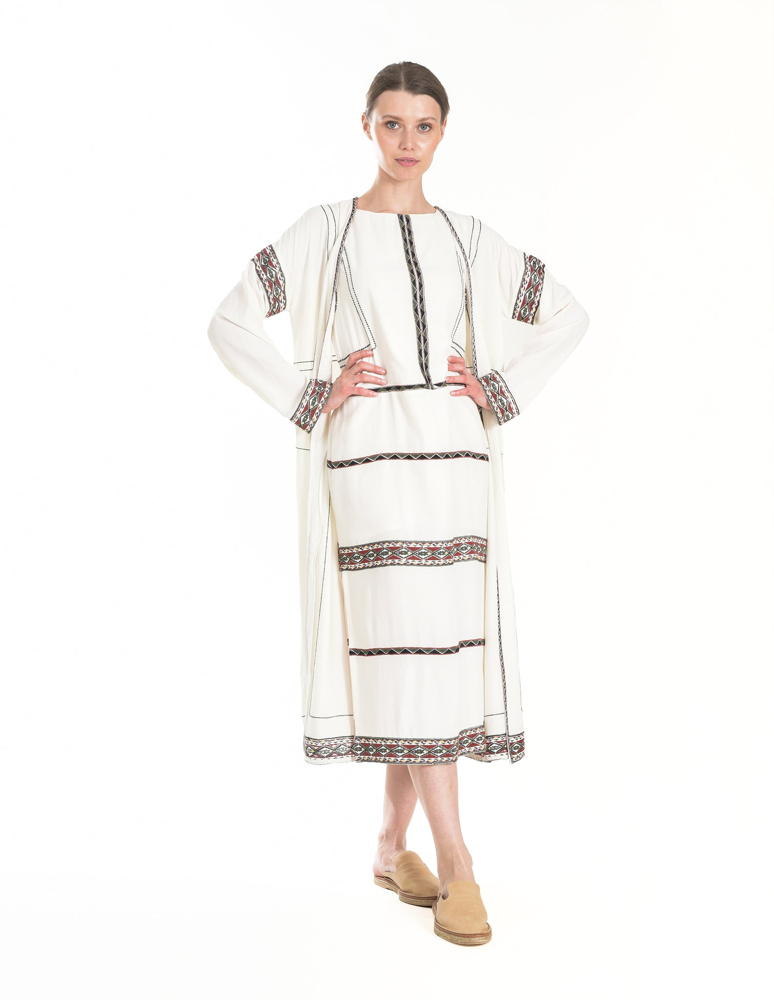 Carmen Coat Ivory - ISLE & ROW