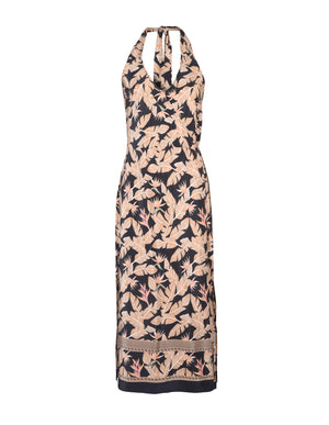 Tropical Print Wrap Dress - ISLE & ROW