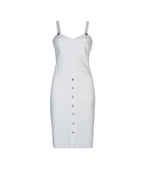Denim Dress White - ISLE & ROW