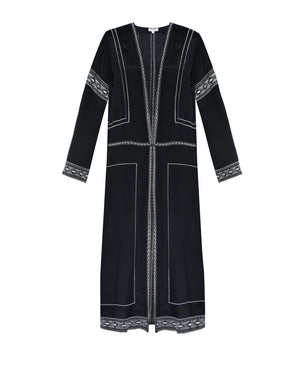 Carmen Coat Black - ISLE & ROW