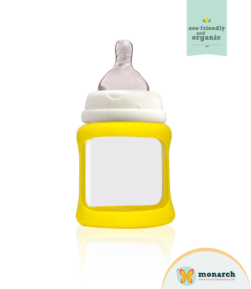 Tetero de Vidrio 150ml/5oz color Amarillo