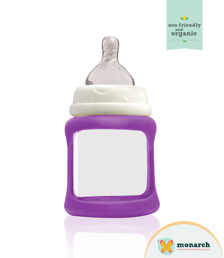 Tetero de Vidrio  150ml/5oz color Morado