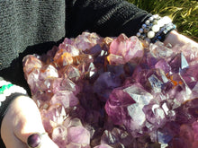 "Load image into Gallery viewer, Amethyst Crystal Quartz Large 48 lb. Cluster - 16"" Long ~ Big Gorgeous Beautiful Purple Sparkling Points Mineral Specimen ~ Reiki Display"