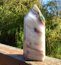 "Load image into Gallery viewer, Rainbow Fluorite Crystal Quartz Large 3 lb. Generator ~ 7"" Tall ~ Pillar Tower ~ Feng Shui, Reiki, Altar, Meditation ~ Fast & Free Shipping"