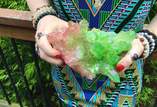 "Load image into Gallery viewer, Angel Aura Quartz Crystal Large 2 Lb. 8 oz. Cluster ~ 7"" Long ~ Electric Pink & Radiant Green Colors ~ Rainbow Iridescent Sparkling Points"