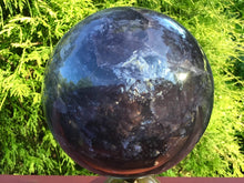 "Load image into Gallery viewer, Rainbow Purple Fluorite Large 15 Lb. 13 oz. Crystal Ball ~ 6"" Wide ~ Massive Polished Sphere ~ Beautiful  Reiki, Altar, Meditation Display"