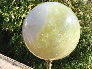 "Citrine Quartz Large 11 Lb. 5 oz. Crystal Ball  ~ 6"" Wide ~ Sunshine Golden Yellow Polished Sphere ~ Beautiful Display ~ Reiki, Altar Décor"