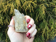 "Load image into Gallery viewer, Citrine Elestial Quartz Crystal 4 oz. Cluster ~ 3"" Long ~ Big Clear Points ~ Altar Display ~ Meditation Reiki Stone ~ Fast & Free Shipping"