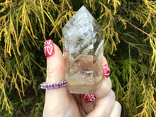 "Load image into Gallery viewer, Clear Quartz Crystal Big 4.5 oz. Generator ~ 3"" Tall ~ Ultra Sparkling Rainbow Inclusions ~ Incredible Transparency ~ Reiki, Altar Display"