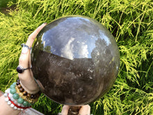 "Load image into Gallery viewer, Ultra Clear Smokey Quartz Large 16 Lb. 13 oz. ~ Crystal Ball ~ 6 1/2"" Wide ~ Transparent Sparkly Inclusions ~ Big Polished Sphere Stunning"