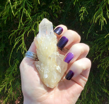 "Load image into Gallery viewer, Elestial Clear Quartz Big 3.8 oz. Crystal ~ 3"" Long ~ Golden Healer ~ Sparkling Inclusions ~ Meditation, Handheld ~ Free & Fast Shipping"