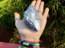 "Load image into Gallery viewer, Blue Kyanite Crystal Quartz 5.4 oz. Cluster ~ 3"" Long ~ Sparkling Mineral Reiki, Altar, Feng Shui, Display Specimen ~ Fast & Free Shipping"