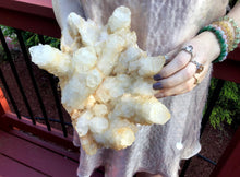 "Load image into Gallery viewer, Elestial Clear Quartz Crystal Large 8 lb. Cluster ~ 9"" Long ~ Sparkling Points ~ Golden Healer ~ Reiki, Altar Display ~ Fast & Free Shipping"