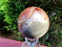 "Load image into Gallery viewer, Jasper Polychrome Ocean Crystal Ball Large 1 Lb. 4 oz. ~ Polished 3"" Sphere ~ Colorful Pastel Colorful Inclusions ~  Fast & Free Shipping"